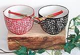 AAF Nommel ® Reisschalen Set Asia Art Factory für 2 Personen mit Eßstäbchen aus Holz in Geschenkebox, Nr. 02