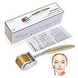 TinkSky Derma Roller - 0.5mm 192 Nadeln Edelstahl – Mikro Nadel Roller medizinischer Grad für das Reduzieren von feinen Falten, Zellulite, Akne, Narben, Dehnungsstreifen und mehr
