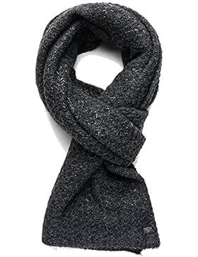 Replay Women's Women's Knit Scarf In Black With Metallic Detailing