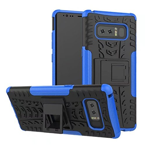 YHUISEN Galaxy Note 8 Fall, Hyun Muster Dual Layer Hybrid Rüstung Kickstand 2 in 1 Shockproof Case Cover für Samsung Galaxy Note 8 ( Color : Green ) Blue
