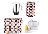 Amazin Homes PVC Printed Fabric Mixer grinder Full Closure Cover (Multicolour)