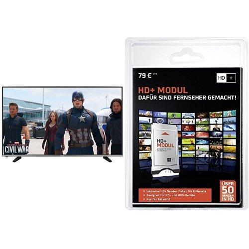 Hisense H49MEC3050 123 cm (49 Zoll) Fernseher (Ultra HD, Triple Tuner, DVB-T2 HD, Smart TV)+ HD PLUS CI+ Modul für 6 Monate (inkl. HD+ Karte, optimal geeignet für UHD, nur für Satellitenempfang) Bundle