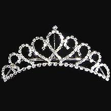 joyliveCY-elegante princesa cristal austriaco Rhinestone Tiara Corona de peque?o peine del pelo