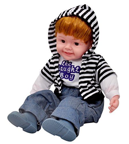 Toyshine 18 Inches Baby Musical and Singing Boy Doll , Educational Superior Material, Cute Dress + Sings Rhymes and Poems + Touch Sensors, Best Birthday Present