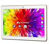 "ACEPAD A96 10 Zoll (9.6"") Tablet PC 3G (Dual-SIM) 48GB Android 7.0 Nougat IPS HD 1280x800 Quad Core WIFI WLAN USB SD (Weiß)"
