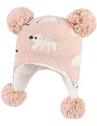 GEMVIE Bonnet Bébé Enfant Hiver Unisexe Chapeau à Pompon Cache Oreille ae43d3c2258