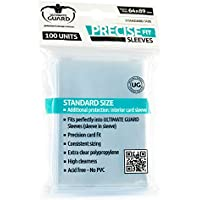 Ultimate Guard Precise Fit Sleeves Standard Size Transparent (Pack of