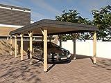 Carport Walmdach ASSEN X 400x800cm Konstruktionsvollholz KVH Fichte NEU