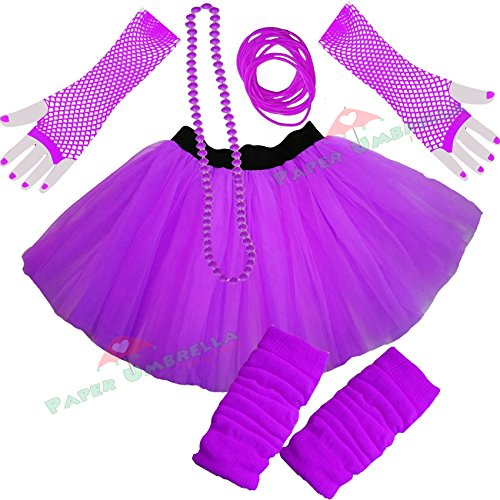 Ladies Neon Tutu Set (choice of colours) - Sizes 8 to 22