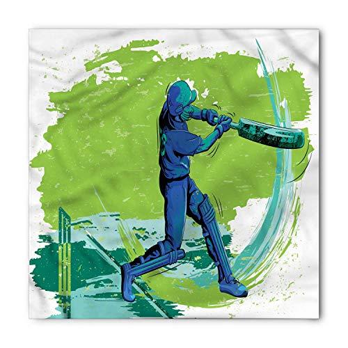 LULABE Sports Bandana, Cricket Player Pitching, Unisex Bandana Head and Neck Tie Neckerchief Headdress Silk-Like 100% Polyester - Bed Head Player