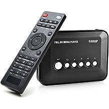 AGPtek® 1080p full HD digitale multimediale TV Media Player con telecomando per 1080p HD USB SD MMC RMVB MP3 AVI MPEG DivX MKV