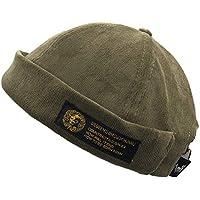 Amorar Gorro Marinero de Pana Vintage Gorra Casquillo de Redondeado Docker  Hat Sailor Cap f62a78214b2