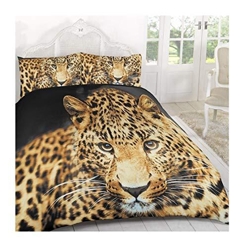 Islander Fashions Luxury Soft 3D Tier Gedruckt Bettdecke Bettbezug Set Mit Kissenbez�ge Gepard Print Einzigen Gr��e