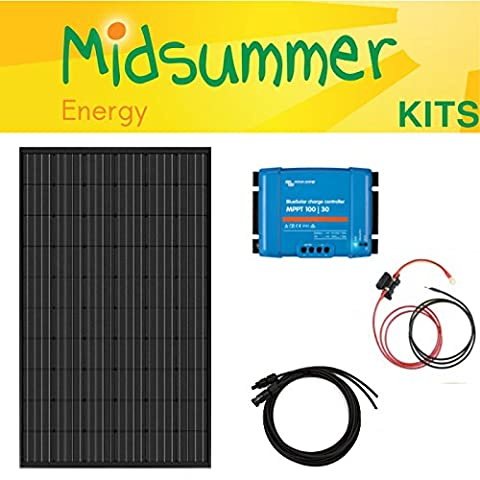 Midsummer 300W 12/24V Premium PV solaire kit–Victron MPPT Régulateur–Liveaboards, caravanes, camping-cars, camping car, RV