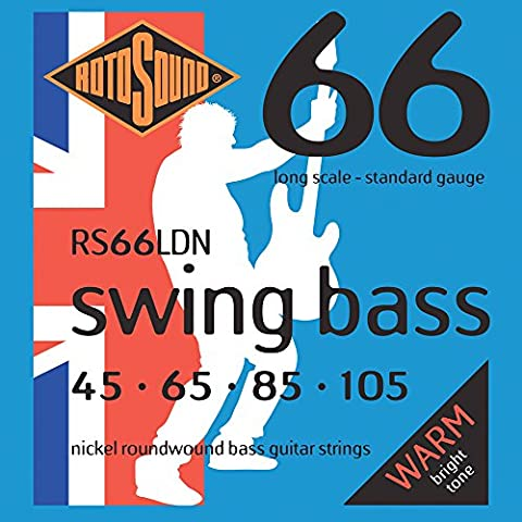 Rotosound Nickel Standard Gauge Roundwound Bass Strings (45 65 85 105)