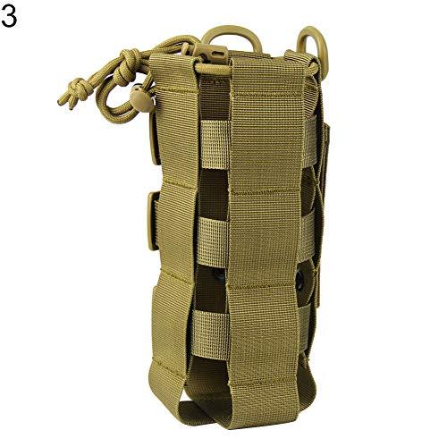 ZqiroLt Outdoor Ware, EDC Outdoor Militär Molle Wasserflasche Aufbewahrungstasche Becherhalter Tasche - Schwarz braun