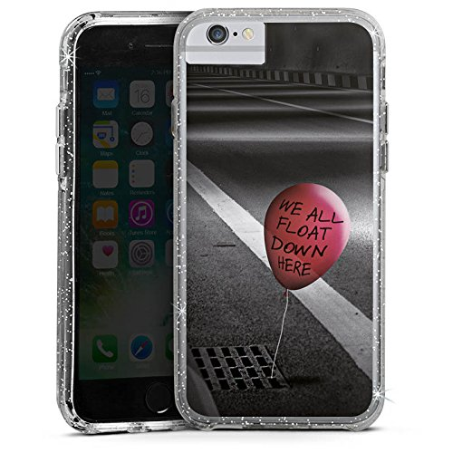 Apple iPhone 6s Bumper Hülle Bumper Case Glitzer Hülle Clown Luftballon Es Bumper Case Glitzer silber