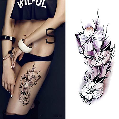 Tzxdbh 5pcs impermeabili tatuaggi temporanei adesivi romantico rosa scura fiori henné body art tatuaggio manica