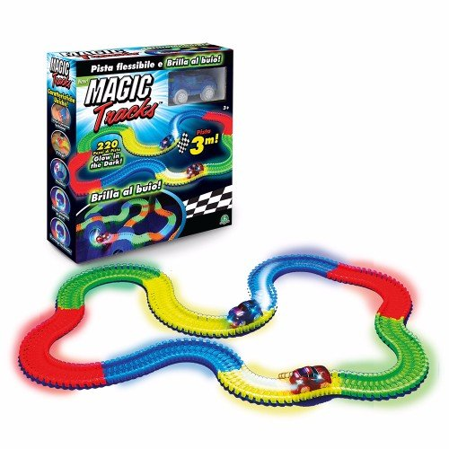 Giochi Preziosi Magic Traks Pista da Corsa per Auto, Glow in the Dark, 1 Auto Inclusa