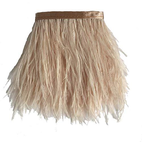 Sowder avestruz plumas bordes adornados cinta satén