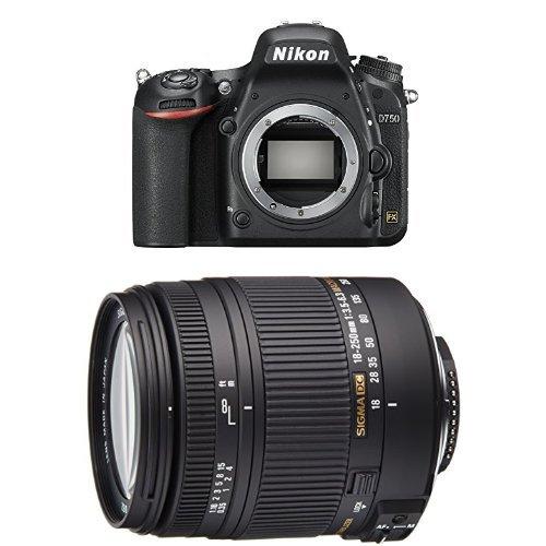 Nikon D750 SLR-Digitalkamera (24,3 Megapixel, 8,1 cm (3,2 Zoll) Display, HDMI, USB 2.0) Kit inkl. AF-S Nikkor 24-120 mm 1:4G ED VR Objektiv...