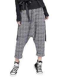 Pantalon Mujer Vintage Classic A Cuadros Pluderhose Elegantes Hipster  Fiesta Estilo Anchas Cómodo Elastische Taille Pantalones 3d4646b67e3