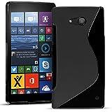 Conie Rückschale für Microsoft Lumia 550 - Silikon Schutzhülle im S-Line Design Hülle aus TPU, Kratzfest Kantenschutz, Lumia 550 Handyschale