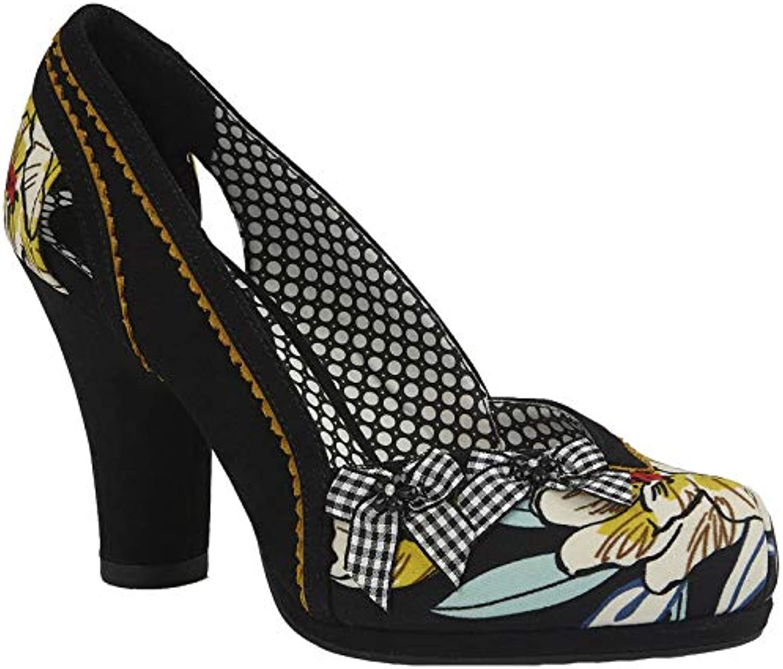 Ruby Shoo Ladies Livia nero Floral Vegan Friendly 41) scarpe 09275-UK 8 (EU 41) Friendly b4d275
