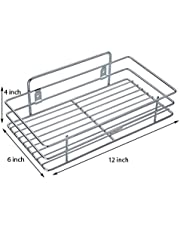 Gehwara Stainless Steel Bathroom Racks and Shelves (12 X 6 X 4-inch)