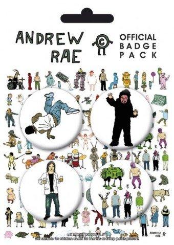 Manifesti: Andrew RAE-4x 38mm Badges set di badge (15,2x 10,2cm)