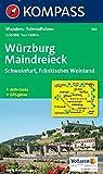 Würzburg - Maindreieck - Schweinfurt - Fränkisches Weinland: Wanderkarte mit Aktiv Guide und Radrouten. GPS-genau.1:50000: Wandelkaart 1:50 000 (KOMPASS-Wanderkarten, Band 166)