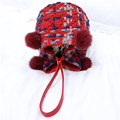 Millya , Damen Rucksackhandtasche, rot (Rot) - bb-01686-01C rot