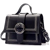 Burenqi Mini sac à main/sac/sac à main/sauvage de la mode retro petit sac carré/épaule Messenger Bag/long 20CM/hauteur 13cm,Black