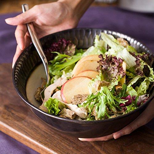 Yxsd Céramique Créative Salade Bol Métal Glaze Rétro Grand Bol Ménage Vaisselle Bol (23 cm * 9 cm)