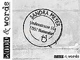 Stempel - Adressstempel POSTSTEMPEL II, Vintage Shabby chic style, individuell personalisiert Name Adresse Anschrift - Holzstempel Familienstempel Firmenstempel - von zAcheR-fineT