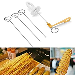 wiederverwendbar Kartoffel Twister Edelstahl Tornado Schneide Manuelle Cutter Spirale Chips Früchte Gemüse Tools Küche Kochen Maker changlesu
