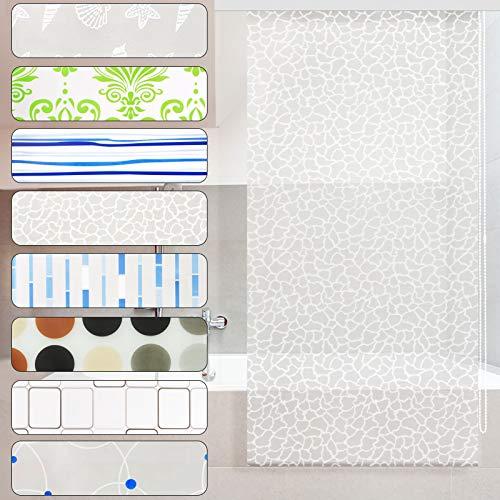 casa pura Modernes Duschrollo Milky Stone mit Kassette | schnelltrocknendes Rollo für Dusche und Badewanne | bis zu 240 cm Länge ausziehbar | zahlreiche Breiten wählbar (Breite 160 cm)