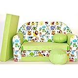 Z5-a pour enfant Canapé bébé Canapé Mini Canapé Canapé lit Pouf Lot de 3en 1d'oreillers en mousse