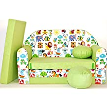 Mini sofá infantil transformable en cama