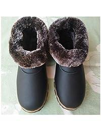 74ff3dc5833ec GAOHUI Slippers Hommes Femmes Chaud Anti Skid Accueil Sweat Coton Chaussons  Hiver Intérieur Extérieur Sacs Couture
