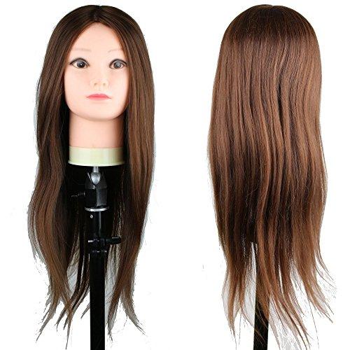 eseewigs cosmétologie pratique avec tête de coupe cheveux pour coiffure de cheveux et cheveux synthétiques 55,9 cm