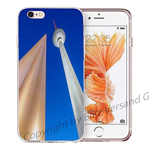 Blitz® NEW YORK motifs housse de protection transparent TPE caricature bande iPhone Brooklyn Bridge M10 iPhone 4 Tour de télévision BERLIN M8
