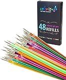 colorIt 48Gel pluma de tinta recargas para Glitter, metálico, y...