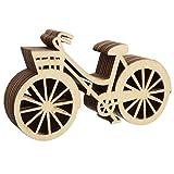 10pcs Hölzerne Fahrrad Schnitzkunst Für Rustikale Thema Hochzeit Party Wohnkultur