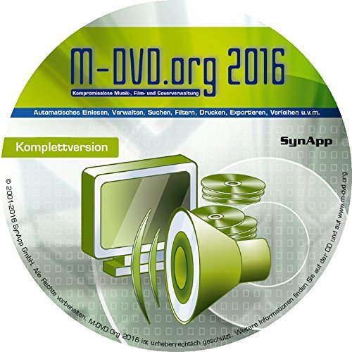 M-DVD.Org 2016 - Komplettversion - Musik, Film & Cover-Verwaltung mit DVD-Archiv