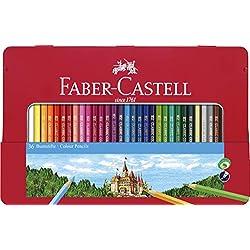 Faber-Castell 115886 - Estuche de Metal con 36 lápices de Colores