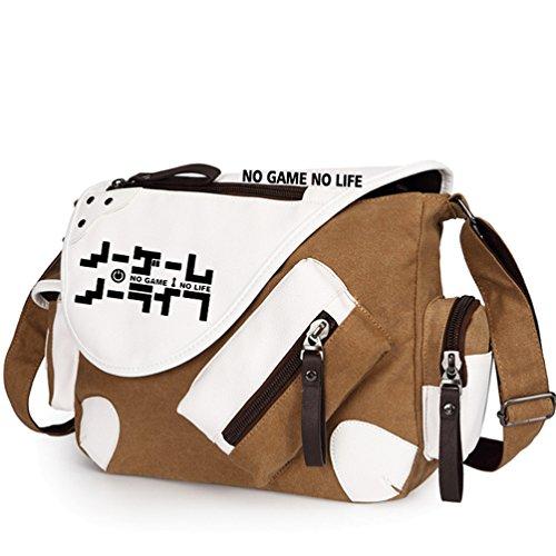 Yoyoshome giapponese anime Cosplay zaino Zaino messenger bag borsa a tracolla nero Fullmetal Alchemist No Game No Life1