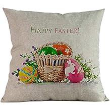 DIPOLA Pascua Sofá,Cama Decoración del Hogar Festival Funda de Almohada Funda de Cojín (