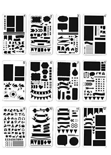 12st Album DIY-Konten Graffiti Hand-Fuß-Malerei Vorlage Vorlage Zeichnung Hohle Spitze Fuß, Kinder Kreatives Grafikvorlagen, Scrapbooking, DIY Fotoalbum Zubehör - Täglich Zeichnung Zeitschrift