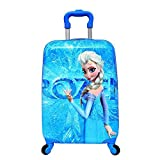 #9: GOCART Polycarbonate 45 Cm Blue Frozen Pattern Hard Side Children's Luggage